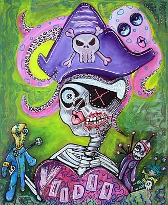Dolls Painting - Pirate Voodoo by Laura Barbosa
