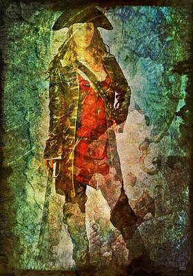 Digital Art - Pirate Woman by Absinthe Art By Michelle LeAnn Scott