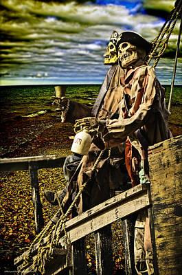 Piracy Jolly Roger Bones Danger Photograph - Pirates A Ground Mate  by LeeAnn McLaneGoetz McLaneGoetzStudioLLCcom