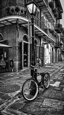 Photograph - Pirate's Alley - French Quarter - Bw by Kathleen K Parker