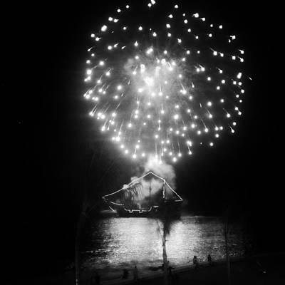 Pirates And Fireworks Art Print by Natasha Marco