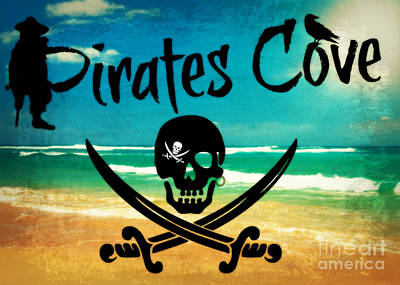 Digital Art - Pirates Cove by Mindy Bench