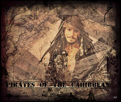 Digital Art - Pirates Of The Caribbean by Absinthe Art By Michelle LeAnn Scott