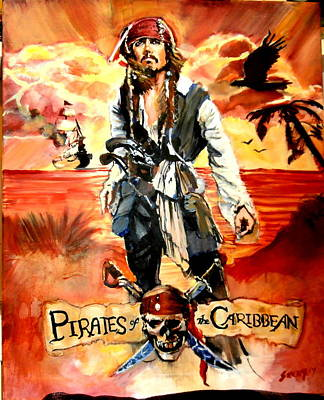 Pirates Of The Caribbean Painting - Pirates Of The Caribbean by Martin Strong