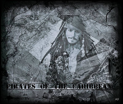 Digital Art - Pirates Of The Caribbean - Shades Of Gray by Absinthe Art By Michelle LeAnn Scott