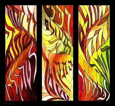 Painting - Pirkei Avos 4 Verse 16 by Miriam Shaw