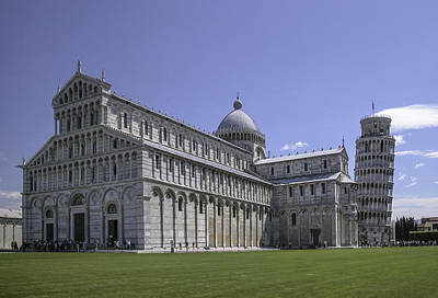 Game Of Chess - Pisa Cathedral and Leaning Tower by Alan Toepfer