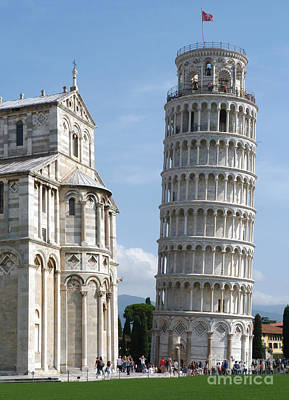 Photograph - Pisa Duomo And Leaning Tower - Morning by Phil Banks