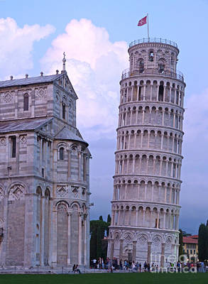 Photograph - Pisa Duomo And Tower - Evening by Phil Banks