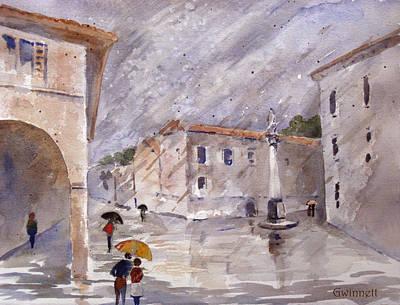 Painting - Pisa In The Rain by Kathleen  Gwinnett