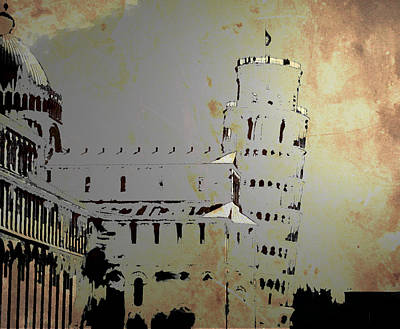 Art Print featuring the digital art Pisa Italy 1 by Brian Reaves