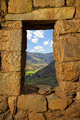 Photograph - Pisac Ruins by Alexey Stiop