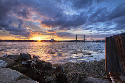 Piscataqua Sunset Art Print by Eric Gendron