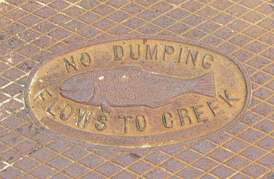 Photograph - Pisces Manhole by Bonnie Muir