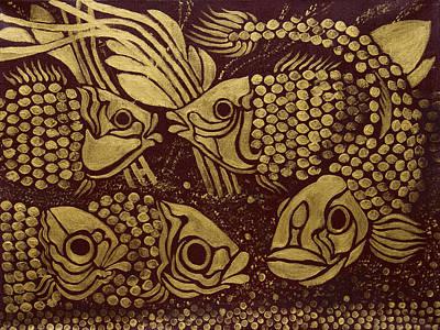Painting - Pisces by Siyavush Mammadov