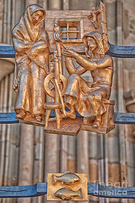 Pisces Photograph - Pisces Zodiac Sign - St Vitus Cathedral - Prague by Ian Monk