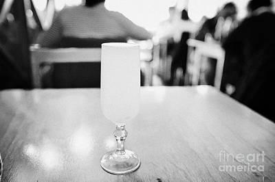 pisco sour cocktail inside la luna restaurant Punta Arenas Chile Art Print by Joe Fox