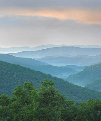 Pisgah National Forest From Blue Ridge Art Print