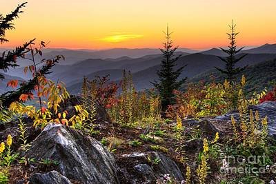 Pisgah Sunset - Blue Ridge Parkway Art Print