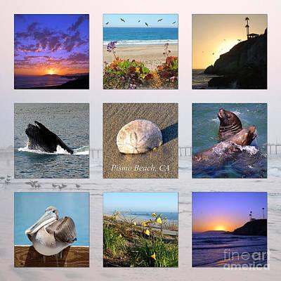 Photograph - Pismo Beach Collage by Debra Thompson