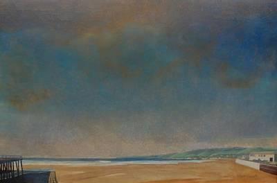 Quietness Painting - Pismo Beach by Mark  Leavitt