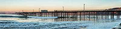 Luis Photograph - Pismo Beach Pier At Sunrise, San Luis by Panoramic Images
