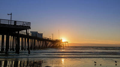San Luis Obispo Photograph - Pismo Beach Pier At Sunset, San Luis by Panoramic Images