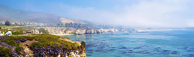 Digital Art - Pismo Beach Through The Fog Panorama by Barbara Snyder