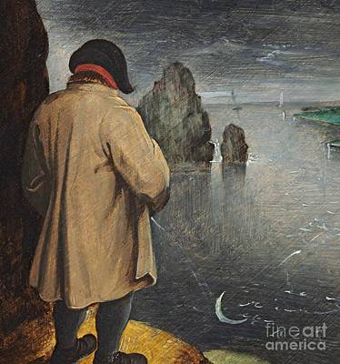 Man In The Moon Painting - Pissing At The Moon  by Pieter the Younger Brueghel