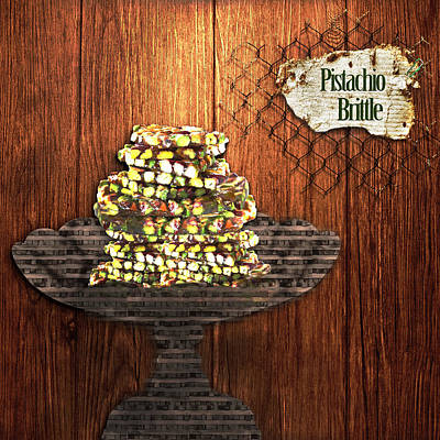 Art Print featuring the photograph Pistachio Brittle by Paula Ayers