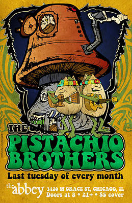 Live Music Drawing - Pistachio Brothers - Abbey by Jon Griffin