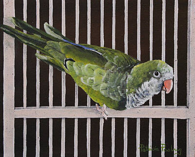 Cage Painting - Pistachio by Patricia Pasbrig