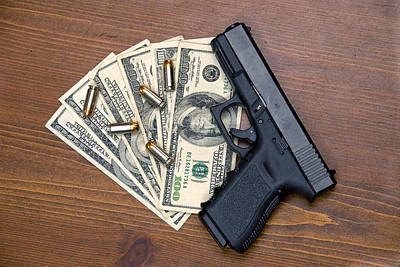Wrongdoing Photograph - Pistol And Cash by Joe Belanger
