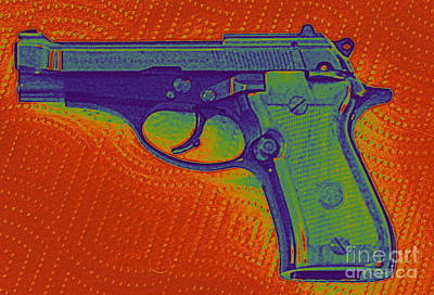 Guns Photograph - Pistol by Thomas Chorbak