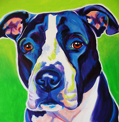 Dawgart Painting - Pit Bull - Sadie by Alicia VanNoy Call
