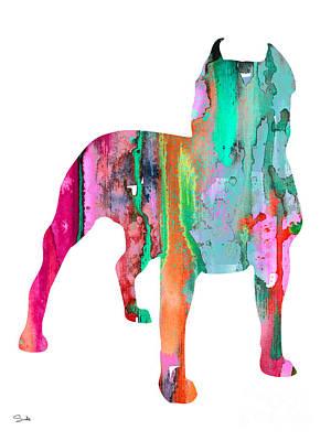 Staffordshire Bull Terrier Painting - Pit Bull 3 by Luke and Slavi