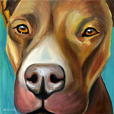Pittie Painting - Pit Bull by Melissa Smith