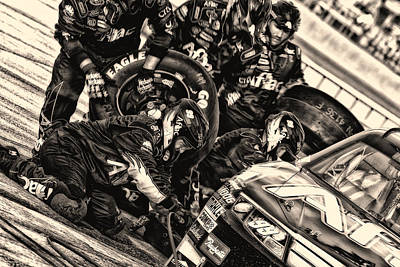 Pit Crew 99 Team  Art Print by Kevin Cable