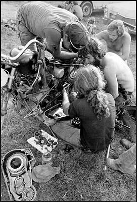 Biker Photograph - Pit Crew by Doug Barber