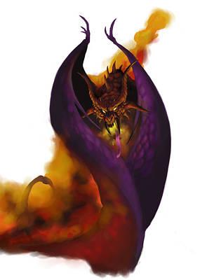 Dungeon Painting - Pit Fiend by Matt Kedzierski