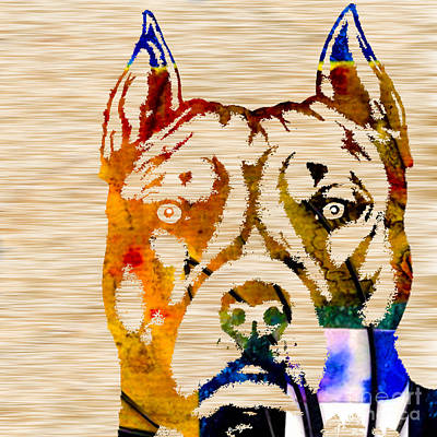 Pitbull Powerhouse Art Print