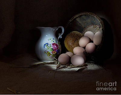 Pitcher And Eggs Print by Cecil Fuselier
