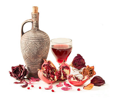Pitcher And Pomegranate Juice In A Glass Original by Sviatlana Kandybovich