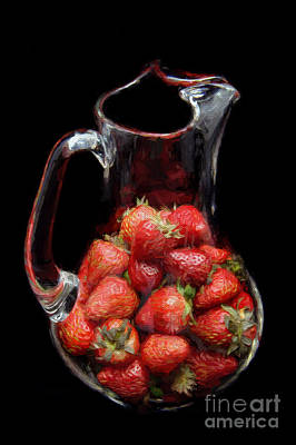 Photograph - Pitcher Of Strawberries by Andee Design