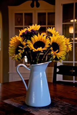 Photograph - Pitcher Of Sunflowers by Eric Tressler