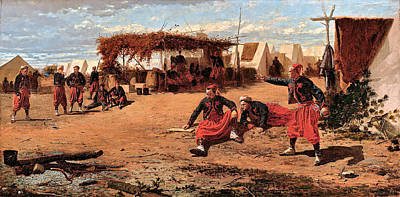 Pitching Digital Art - Pitching Quoits by Winslow Homer