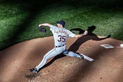 Pitching Through Shadows Print by Tom Gort