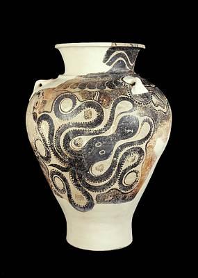 Minoan Photograph - Pithos by Ashmolean Museum/oxford University Images