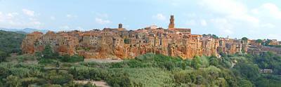 Sofa Size Photograph - Pitigliano Panorama by Alan Socolik