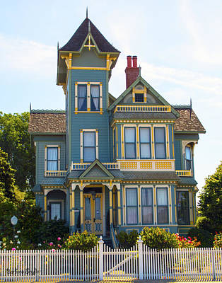 Photograph - Pitkin Conrow Victorian Mansion Arroyo Grande California by Barbara Snyder